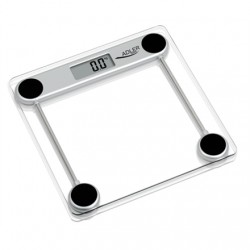 Svarstyklės Adler Maksimalus svoris (talpa) 150 kg, Tikslumas 100 g, 1 naudotojas(-ai), Glass