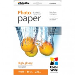 ColorWay A4, High Glossy Photo Paper, 20 Sheets, A4, 200 g/m²