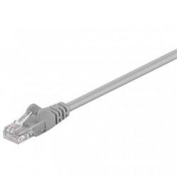 Goobay 68352 CAT 5e patch cable, U/UTP, grey, 15m