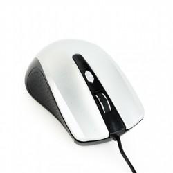 Gembird Mouse MUS-4B-01-BS Standard, No, Black/ silver, No,