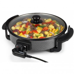 Tristar Multifunctional grill pan PZ-2963 Grill, Diameter 30 cm, Lid included, Fixed handle, Black