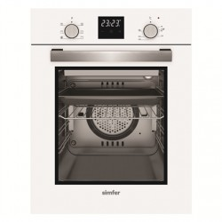 Simfer Oven 4207BERBB 47 L, White, Easy to clean, Pop-up knobs, Width 45 cm, Built in