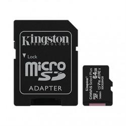 Kingston Canvas Select Plus UHS-I 64 GB, MicroSDXC, Flash memory class 10, SD Adapter