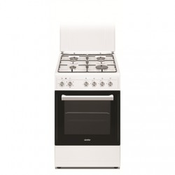 Simfer Cooker 5405SERBB Hob type Gas, Oven type Electric, White, Width 50 cm, Electronic ignition, 43 L, Depth 60 cm