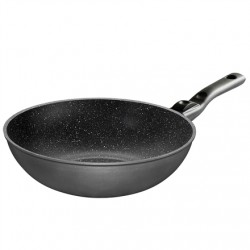 Stoneline Pan 19569 Wok, Diameter 30 cm, Suitable for induction hob, Removable handle, Anthracite