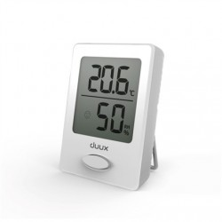 Duux Sense Hygrometer + Thermometer, White, LCD display