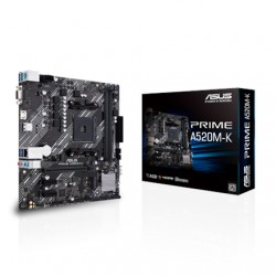 Asus PRIME A520M-K Processor family AMD, Processor socket AM4, DDR4, Memory slots 2, Supported hard disk drive interfaces M.2, S