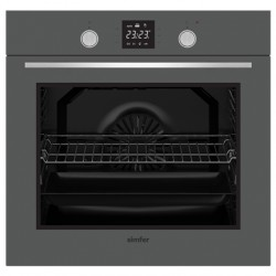 Simfer Oven 8408EERSC 80 L, Multifunctional, Easy to Clean Enameled Cavity, Touch/Pop-up knobs, Width 60 cm, Grey