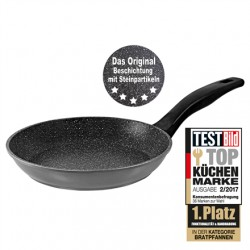 Stoneline Pan 6840 Frying, Diameter 20 cm, Suitable for induction hob, Fixed handle, Anthracite