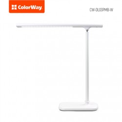ColorWay LED Table Lamp Portable & Flexible with Built-in Battery White, Table lamp, 3 h, 5 V, 0.5 Ah