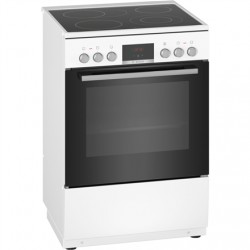 Bosch Cooker HKR39A220U Hob type Vitroceramic, Oven type Electric, White, Width 60 cm, Electronic ignition, Grilling, Digital, 6