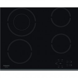 Hotpoint Hob HR 632 B Vitroceramic, Number of burners/cooking zones 4, Touch control, Timer, Black