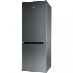 INDESIT Refrigerator LI6 S1E X Energy efficiency class F, Free standing, Combi, Height 158.8 cm, Fridge net capacity 197 L, Free