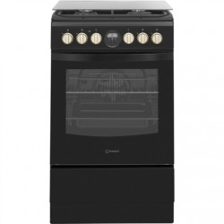 INDESIT Cooker IS5G8CHB/PO Hob type Gas, Oven type Electric, Black, Width 50 cm, Grilling, 57 L, Depth 60 cm