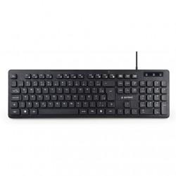 Gembird Multimedia Keyboard KB-MCH-04 USB Keyboard, Wired, US, Black