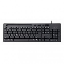 Gembird Multimedia keyboard with phone stand KB-UM-108 USB Keyboard, Wired, US, Black