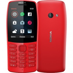 "Nokia 210 Red, 2.4 "", TFT, 240 x 320 pixels, 16 MB, Dual SIM, Bluetooth, 3.0, USB version microUSB, Main camera 0.3 MP, 1020 mAh"